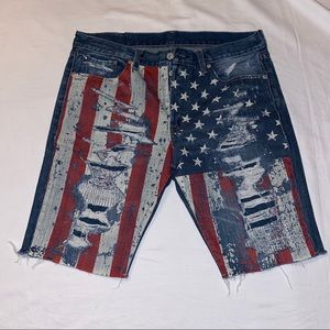 Ralph Lauren Denim & Supply Flag Jean Shorts 34